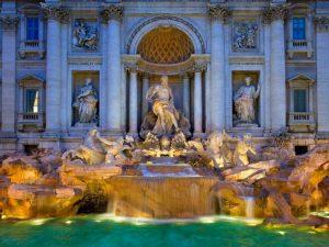 Красив фонтан в Рим, Италия